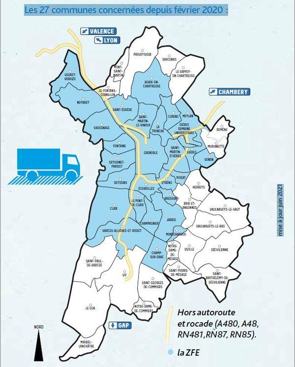 Carte FFE-m Grenoble