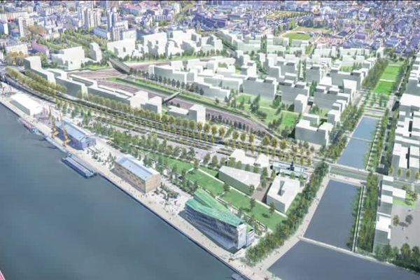 L'éco-quartier Flaubert compter environ 2500 logements et 250 000 mètres carrés de bureaux