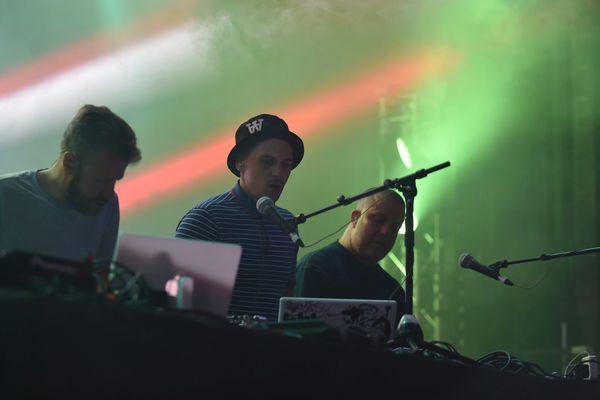 Le groupe Birdy Nam Nam au Foreztival le 15 août 2015