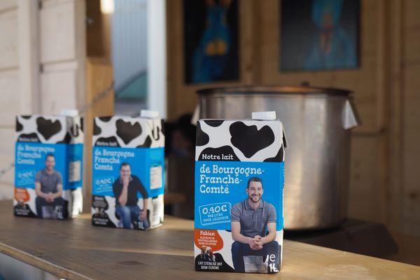 Briques de lait de la fromagerie Delin