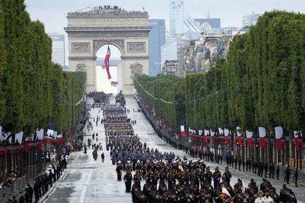 L'édition 2021 du défilé du 14-Juillet, ce mercredi sur les Champs-Elysées.