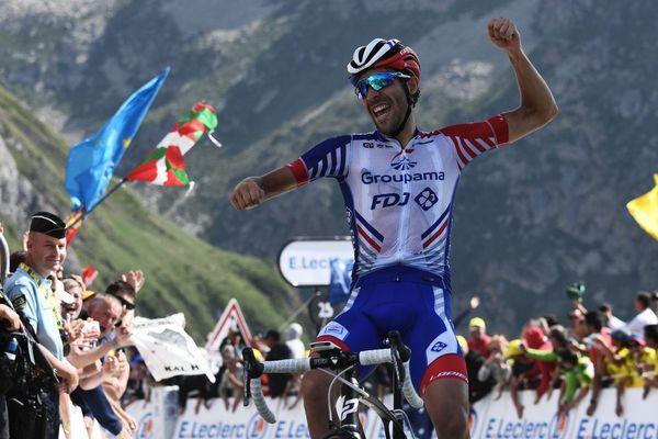 Thibaut Pinot remporte la 14ème étape du Tour de France.