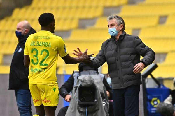 Christian Gourcuff lors du match de Nantes contre Strasbourg en Ligue 1