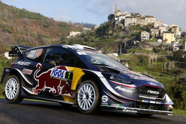 Le Français Sébastien Ogier (M-Sport Ford), occupait confortablement la tête à l'issue de la première journée du Tour de Corse.
