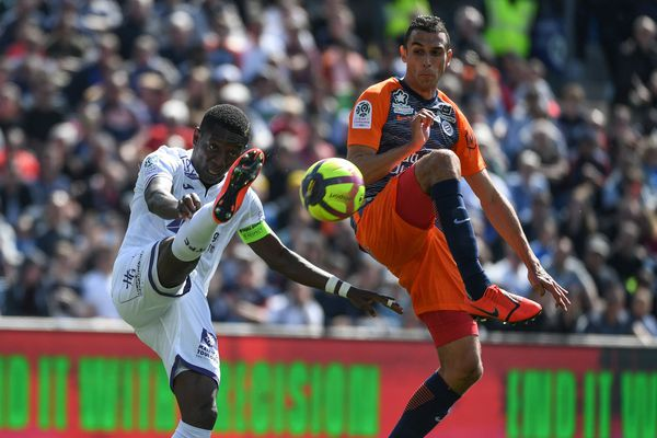 Montpellier a battu Toulouse  2-1 à la Mosson.