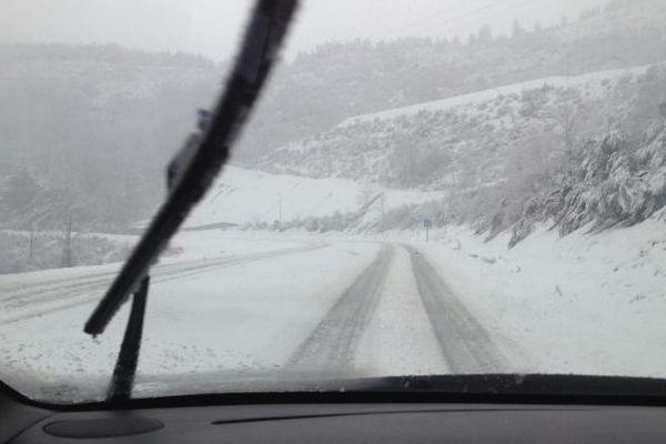 La neige au col de Jalcrest près du Collet de Dèze