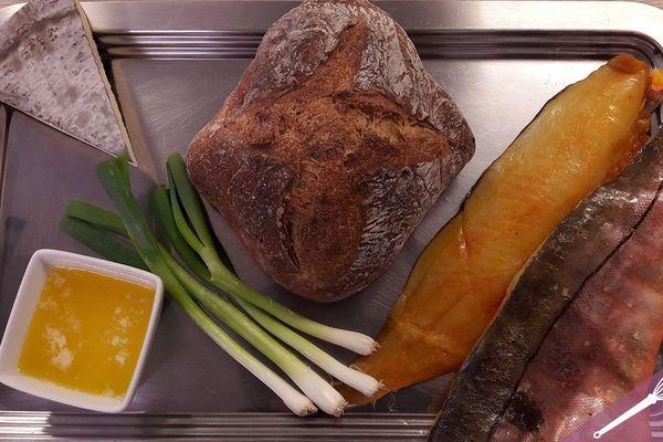 Les ingrédients des croques au haddock fumé et au fromage