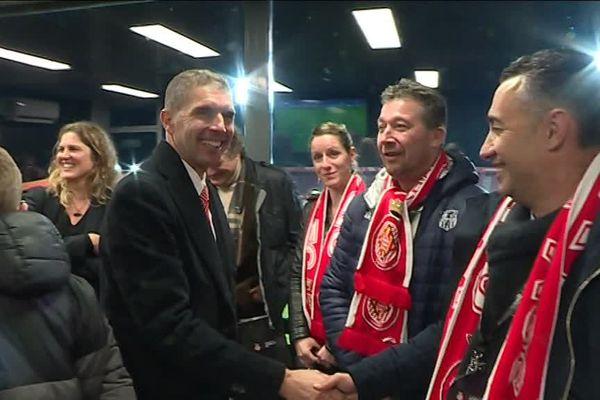 Le président du club catalan de Gérone est venu saluer ces possibles nouveaux supporteurs - décembre 2018.