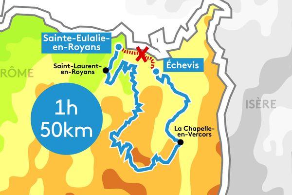 Dans le Vercors Drômois, les habitants d'Echevis, plus isolés que jamais  à cause des travaux sur les tunnels des Goulets. La route qui mène au Royans est fermée. Conséquence : un détour de 50 km par les petites routes de montagne