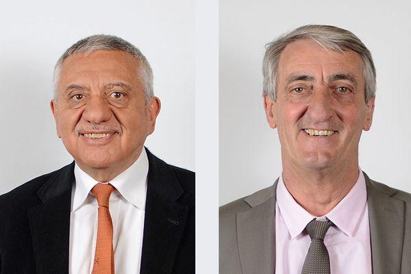 Après la démission de Denis Bouad (à droite sur la photo), Alexandre Pissas assure l'intérim à la tête du conseil départemental du Gard à compter du 28 octobre 2020.