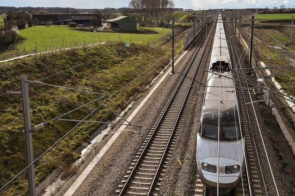 La LGV entre Rennes et Paris
