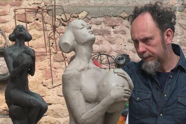 Statue de Davide Galbiati qui sera immergée à 100 mètres de la plage des Catalans.