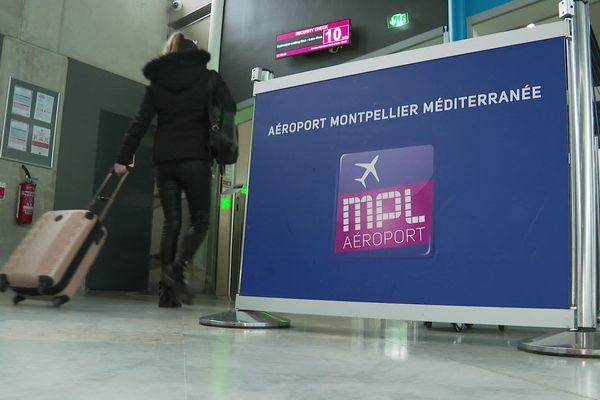Hall départ, aéroport de Montpellier - 27/01/2020