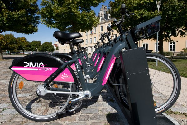 Les vélos DiviaVélodi déployés à Dijon à la rentrée 2017.