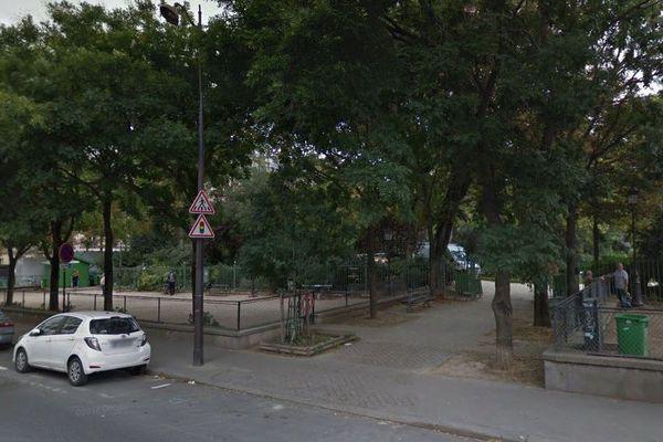 Le square des Batignolles, à Paris.