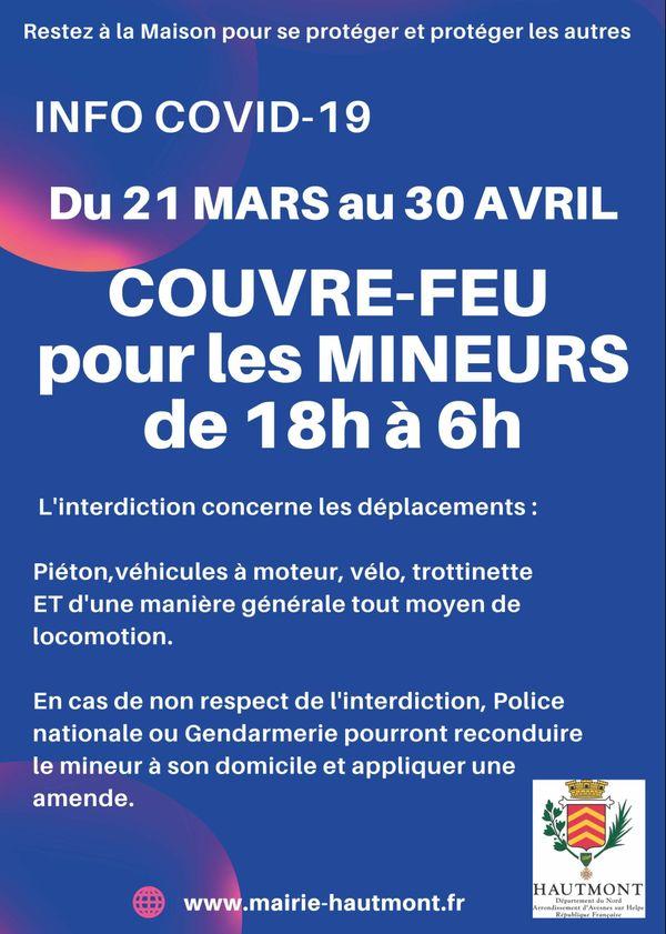 L'affiche diffusée ce samedi par la mairie d'Hautmont.