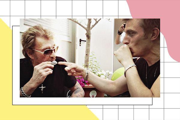 Johnny Hallyday et Greg Zlap