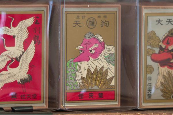 De vieux jeux de cartes originaux de Nintendo.