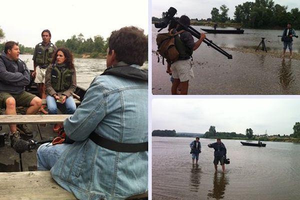L'équipe de reportage de Paysages au Bec d'Allier