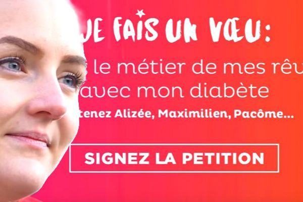 Alizée Agier s'engage contre les discriminations liées au diabète.