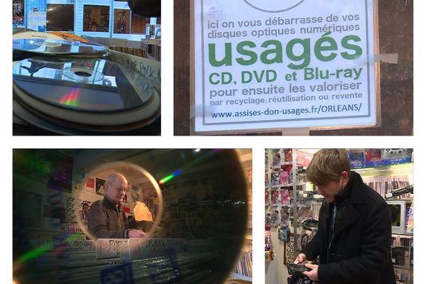 Depuis janvier 2018, les Orléanais ont la possibilité de déposer leurs CD-DVD usagés dans douze points de collecte sur la métropole.