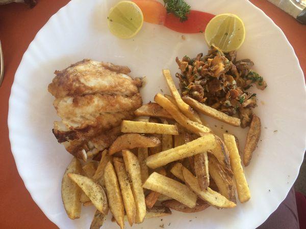 Les girolles, une spécialité dans ce restaurant installé à Madagascar