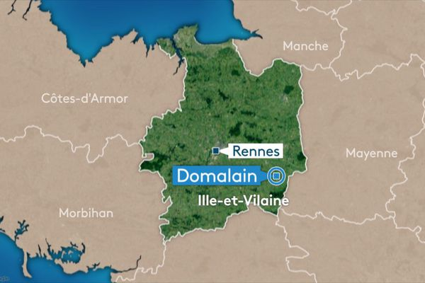 l'accident a eu lieu en campagne sur la commune de Domalain