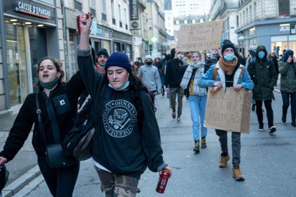 Manifestation à Rennes le 23 janvier dernier