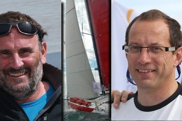 Philippe Burger et Olivier Roussey , skippers lorrains d'Obportus 3
