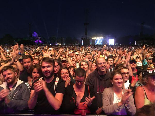 Le public devant le concert de Ben Harper