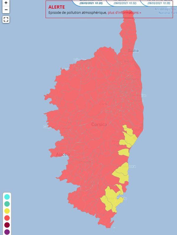 L'association Qualit'Air s'est dotée d'un nouvel indice, permettant d'obtenir une visualisation spatiale de la qualité de l'air en Corse.