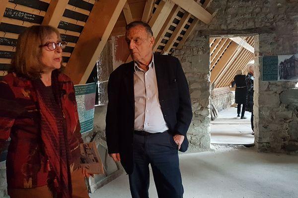 A l'occasion des 8èmes  rencontres Albert Londres a Vichy, François Missen lauréat du prix Albert Londres 1974 a visité la future maison du grand reportage.