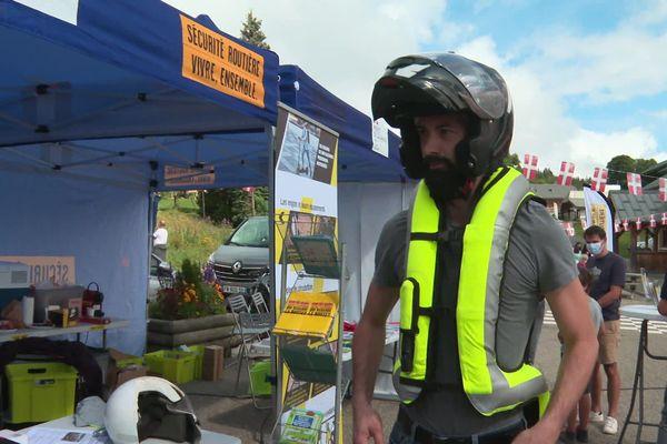 Seuls 4% des motards sont équipés d'un gilet airbag.