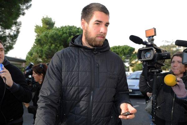 Montpellier : Luka Karabatic repart de son entretien avec les dirigeants du MAHB - 30 octobre 2012.