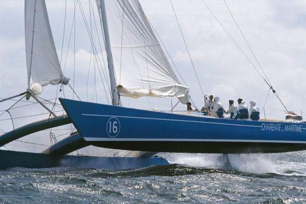 """Le """"Charente-Maritime I"""", quand La Rochelle innovait dans la course au large."""