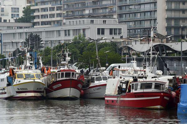 Le port de Boulogne en mai dernier.