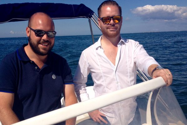 Yohan et Helmert partis faire une balade en mer