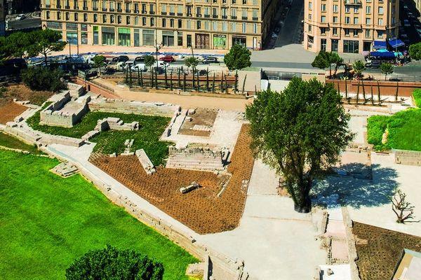 25/09/2019 - Patrimoine. Le nouveau visage du Port antique à Marseille, réouverture après un an de travaux.