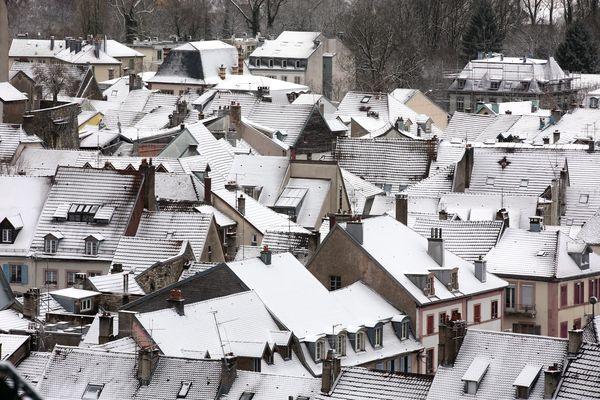 <p>La neige de retour en Franche-Comté. Image d'illustration&nbsp;</p>