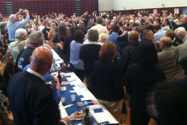 700 personnes attendaient Marine Le Pen pour un buffet militant à Saint-Aubin-du-Cormier