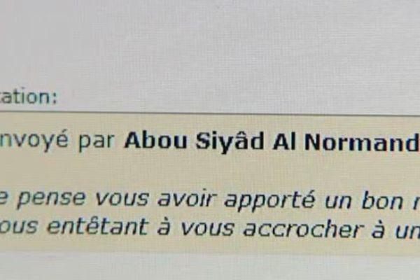 En 2012, Romain Letellier prend le pseudonyme d'Abu Siyâd Al Normandy
