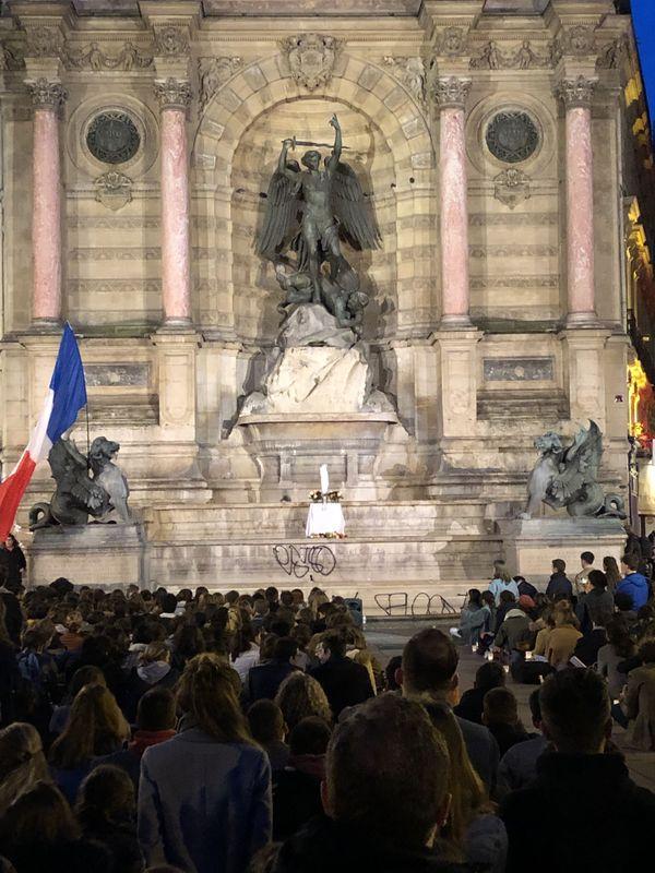 Chants et prières Place Saint-Michel