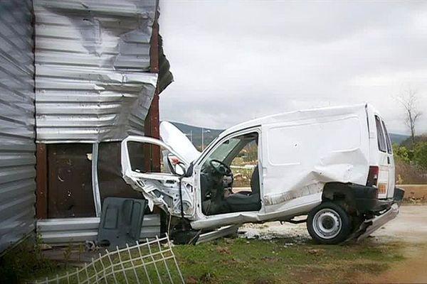 Saint-Martin-de-Londres (Hérault) - les dégâts après la tornade - 24 novembre 2016.