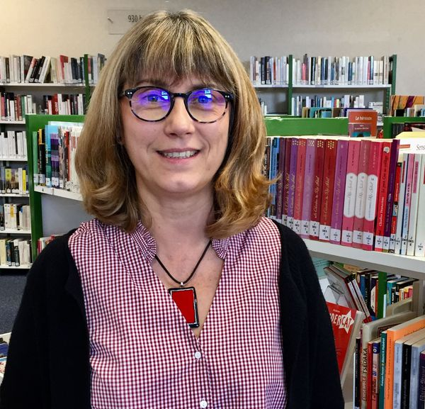 La bibliothécaire Valérie Monod