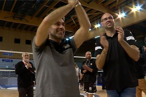 Brice Donat, l'entraîneur du SPVB, après la victoire des Poitevins face aux Russes de Belgorod.