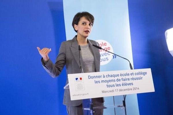 Conférence de presse de Najat Vallaud Belkacem pour présenter la nouvelle carte de l'éducation prioritaire.