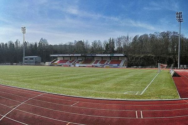 Le stade du CS Fola Esch au Luxembourg.