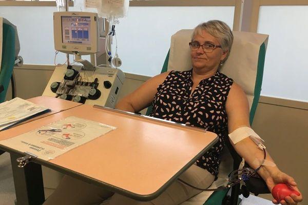 Une donneuse en Savoie.