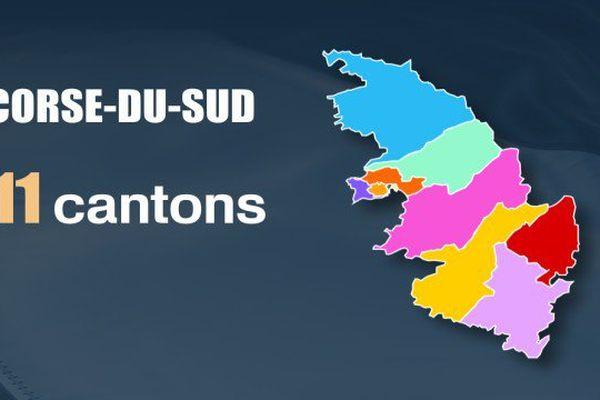 Les cantons en Corse-du-Sud en 2015