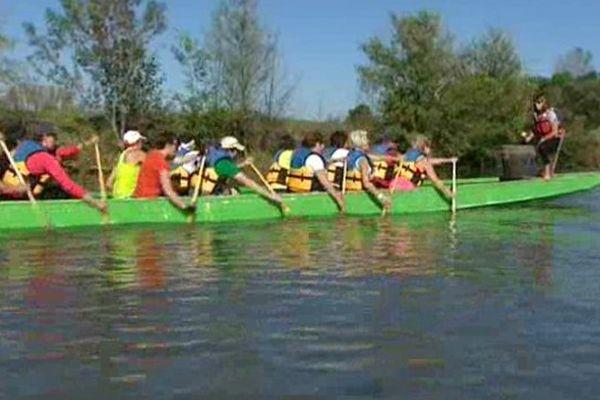 Les Dragon ladies se sont entraînées durant plusieurs mois sur la Saône.